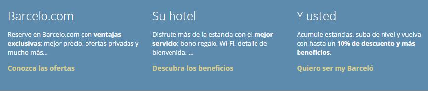 Beneficios Barceló Hoteles
