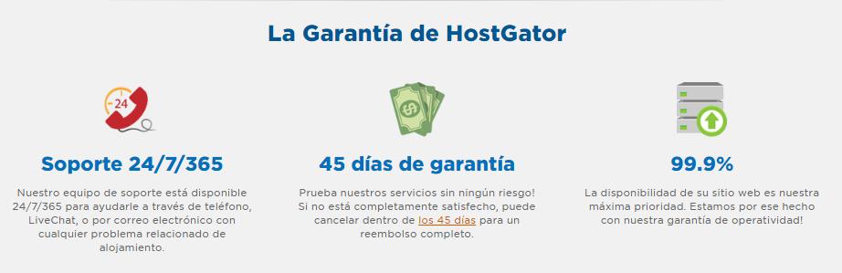 Garantías HostGator