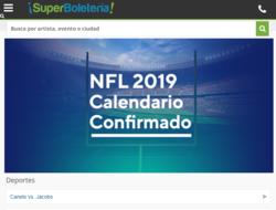 Código promocional Superboletería 2019